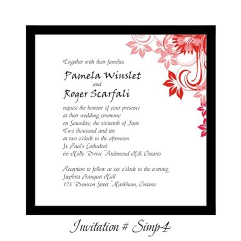 stephita wedding invitations wedding invitation simp4 viner ambient