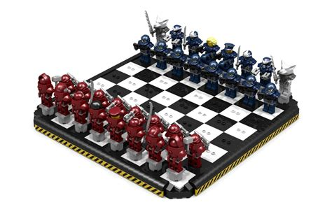Cheap Chess Sets lego ideas blue commandos vs red marines chess set