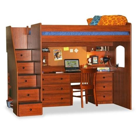 Berg Bunk Bed Berg Furniture Utica Loft Bed With 5 Drawer Staircase 23 905 Xx
