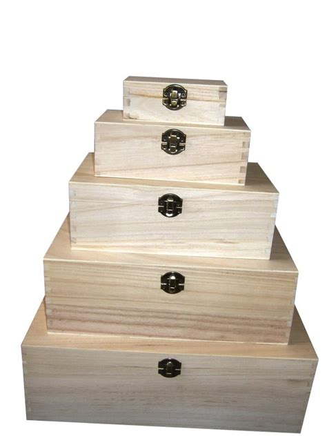 holiday wood storage box ideas plain wood wooden rectangular hinged storage boxes choose size ebay