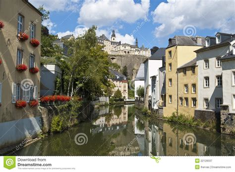 Lu City Z canal in luxembourg city stock image image of picturesque