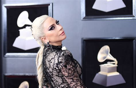 No One Shuts Up Sings At Grammy Awards gaga wore a corset braid on the grammys carpet