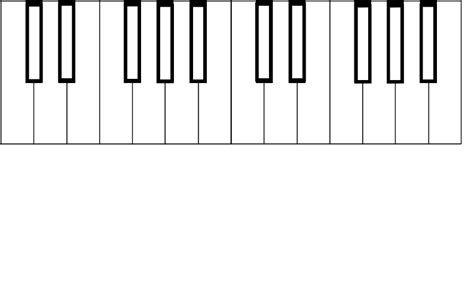 piano template blank piano keyboard clipart best