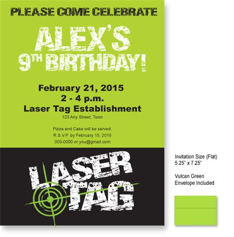 laser tag distress look invitations imagintee