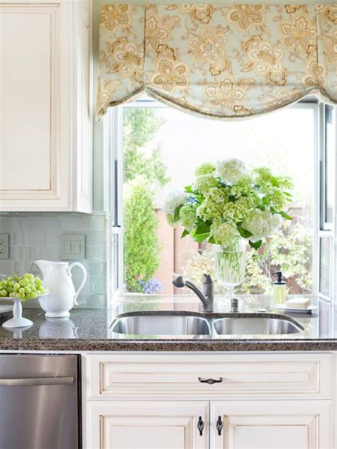 Ideas For Kitchen Window Curtains by 2014 Kitchen Window Treatments Ideas Decorating Idea