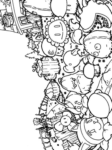 plantas vs colouring pages plants vs zombies coloring pages free printable plants