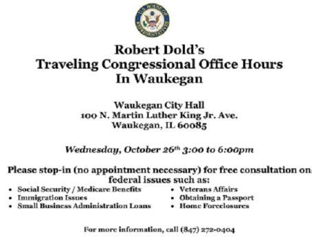 Social Security Office In Waukegan by Robert Dold S Traveling Congressional Office Hour In