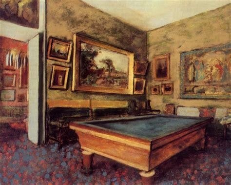 Degas Interior by The Billiard Room At Menil Hubert 1892 Edgar Degas Wikiart Org