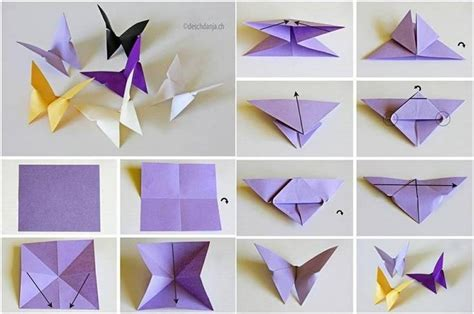 Butterfly Paper Folding - easy paper folding crafts recycled things