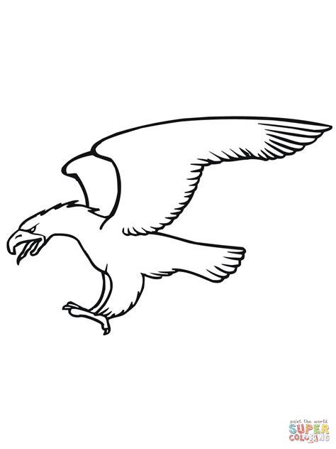 golden eagle diving coloring online super coloring