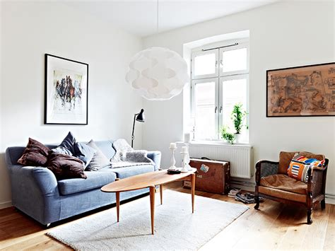 Decorating Ideas Mixing And New Mixture Of And New Furniture In A Swedish Apartment