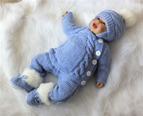 Handmade Knitted Baby Clothes - knit baby boy coming home knitted baby