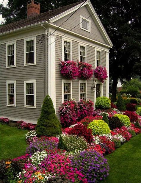 flowers for front yard assorted color flowers and plants on the green grass in