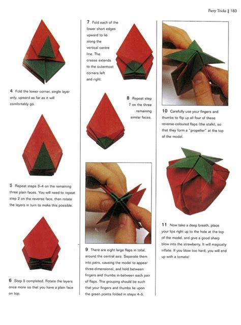 Origami Strawberry - strawberry intermediate origami bee