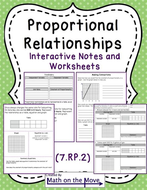 Proportional Relationship Worksheet by Proportional Reasoning Interactive Notes And Worksheets
