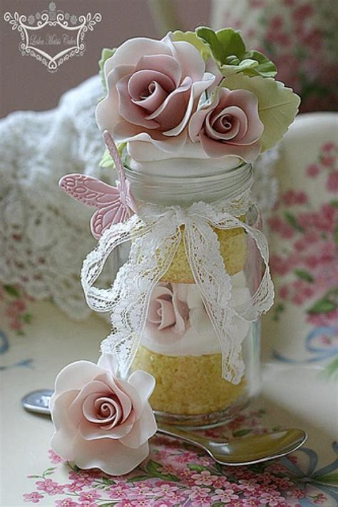 Wedding Cake Jars by Jar Jar Cake With Roses 1987423 Weddbook