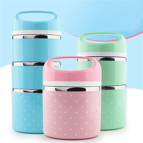 Top Seller Lunch Box Kotak Makan Bento Box Tempat Makan Sekat 4 aliexpress buy portable stainless steel thermal lunch boxs thermal insulated food