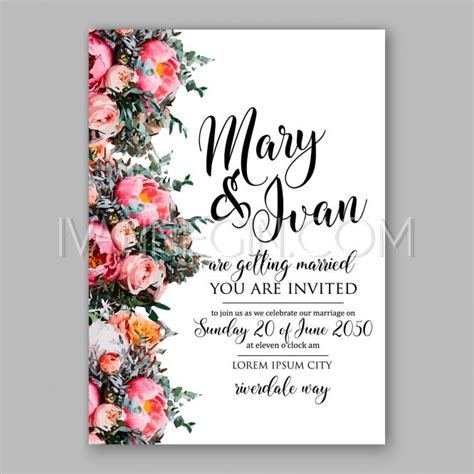 template for flower arrangement card can sc wedding invitations 1st holy communion