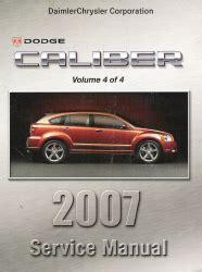 car repair manual download 2007 dodge caliber spare parts catalogs 2007 dodge caliber service manual 4 volume set