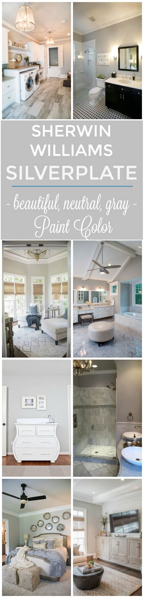 sherwin williams silverplate paint color a beautiful neutral gray setting for four