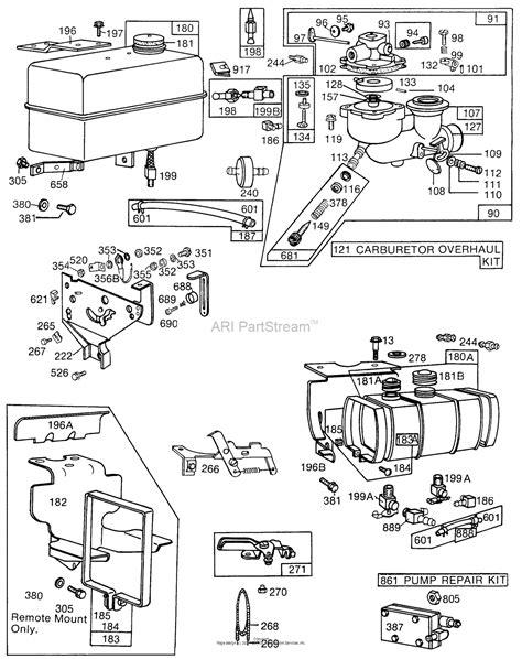 briggs and stratton fuel diagram briggs and stratton 131432 0172 01 parts diagram for