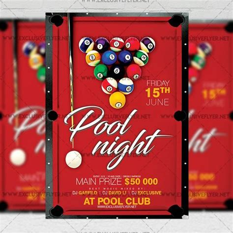 templates for a5 flyers premium a5 flyer template pool night 187 nitrogfx