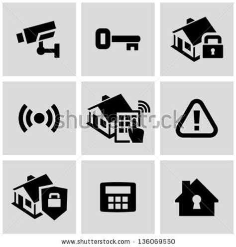 home security stock vector illustration 136069550
