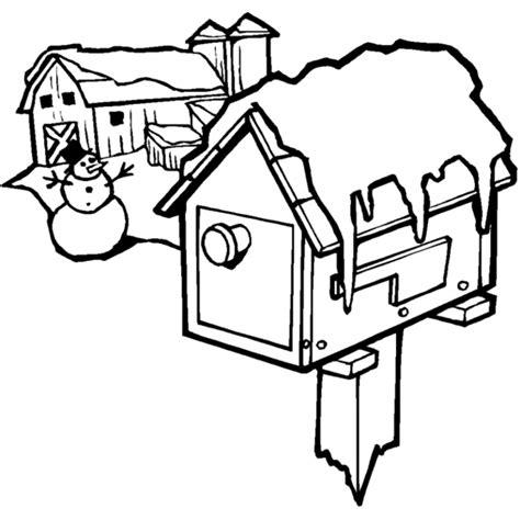 disegni casa disegno di casa innevata da colorare per bambini