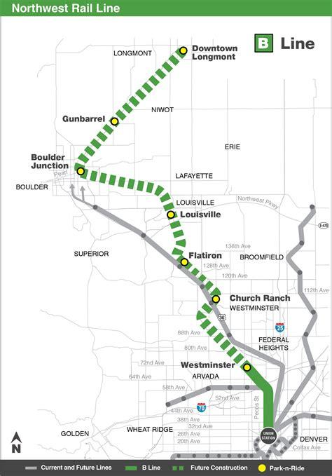 line map northwest rail b line