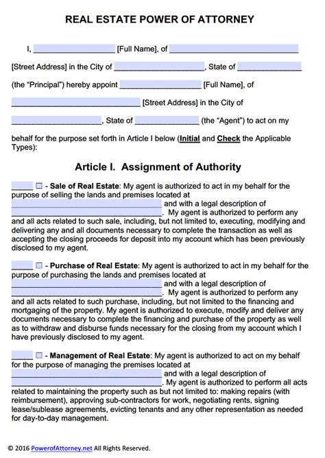 real estate power of attorney form pdf templates power