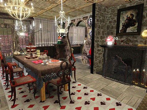 alice and wonderland bedroom doty round 2 alice in wonderland kitchen dining room by sandymdh