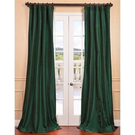 green taffeta curtains emerald green faux silk taffeta curtain panel overstock