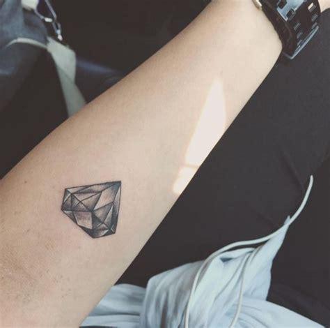 diamond tattoo cover up ideas small grey diamond tattoo on forearm