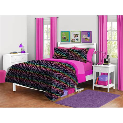 walmart bedding set your zone zebra plush reversible comforter set walmart