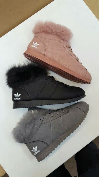 shoes adidas shoes adidas fur sneakers adidas fur high top adidas winter boots fall