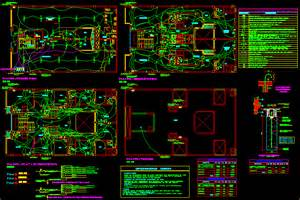 one family housing electrical wiring plan in autocad