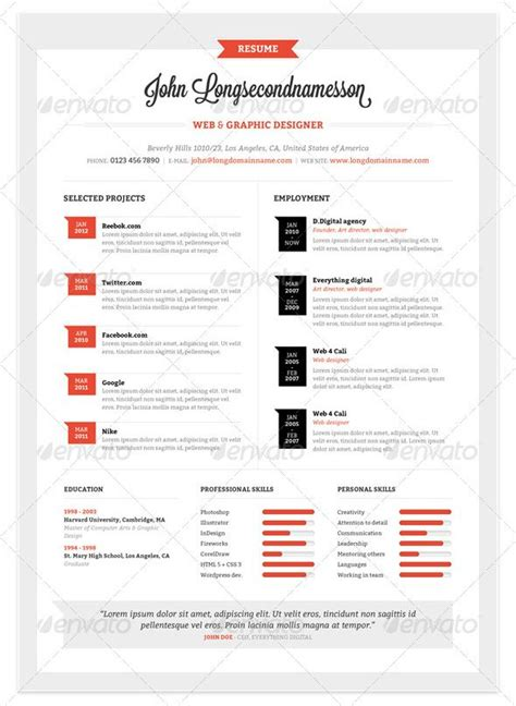 Modelo Curriculum Vitae Illustrator Las Mejores Plantillas De Curriculums Vitae Creativos Esandra