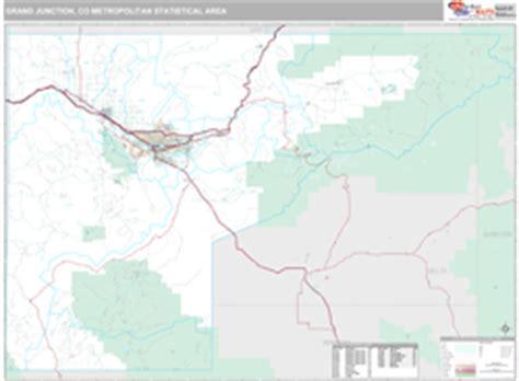 zip code map grand junction co grand junction co metro area zip code wall map premium