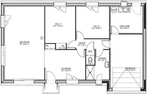 plan 騁age 3 chambres nos plans de maisons de plain pied ou 224 233 tage