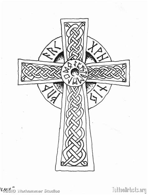 cross with writing tattoo viking cross anyone what the writing is perhaps