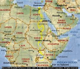 Nile River On World Map by General Longest River In The World