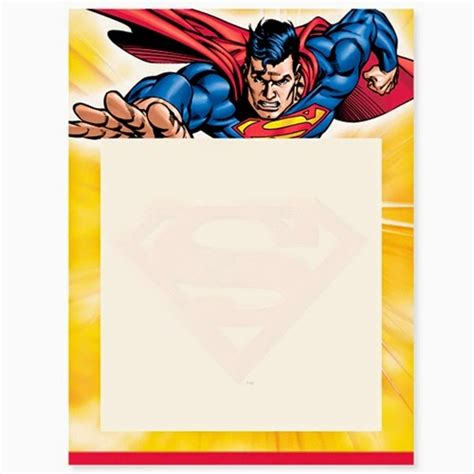 Superman Card Template by Superman Free Printable Invitations Frames Or Cards Oh