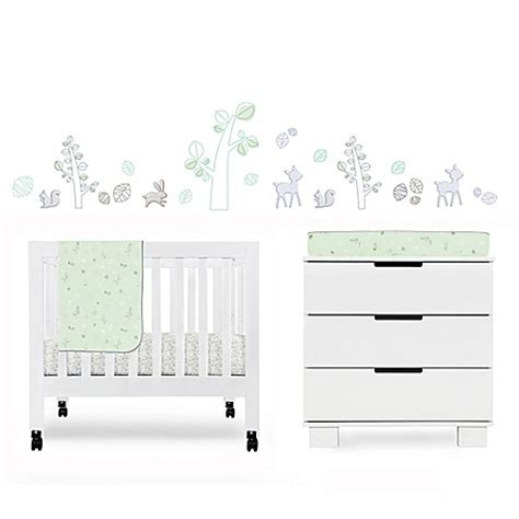 Babyletto Mini Crib Sheets Babyletto Tranquil Woods Mini Crib Bedding Collection Bed Bath Beyond