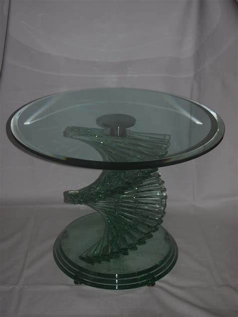 Glass Spiral Coffee Table Antiques Atlas Heavy Glass Spiral Coffee Table