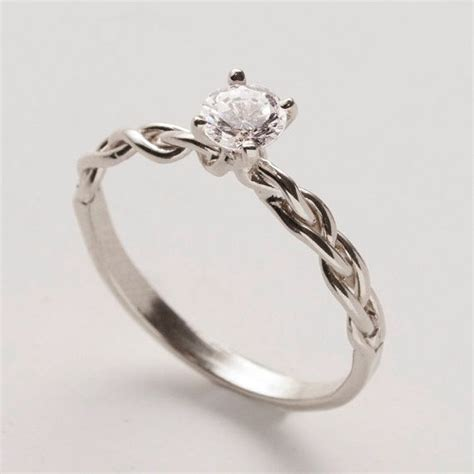 engagement ring delicate braided engagement ring in by
