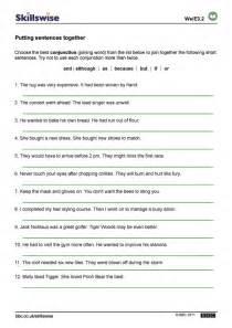 5 best images of printable worksheets compound sentences