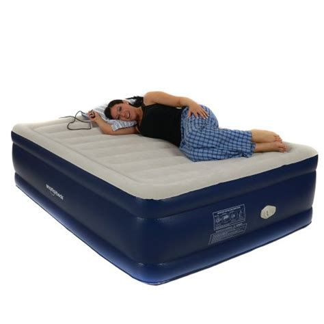 smart air beds platinum raised air bed with remote blue ehouseholds