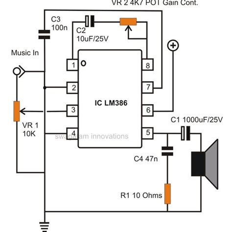 build small simple audio amplifiers  ic lm