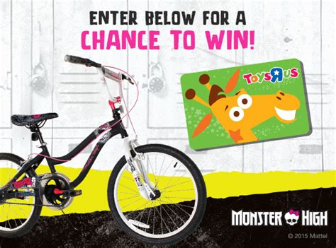 Monster Gift Card - monster high bike toys r us gift card giveaway