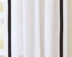 White Curtains With Black Trim Popular Items For White Curtain Panel On Etsy